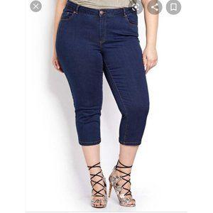 Skinny Denim Capri Cropped Jeans